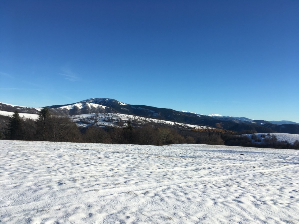 Prvy sneh na Plesiach