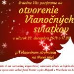 Otvorenie vianočných sviatkov podkonice 2014