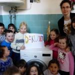 Nová práčka v škole v Podkoniciach