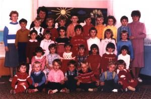 Ročníky v MŠ: 1978/1979 + 1979/1980 + 1980/1981 (fotené_v_roku_1985)