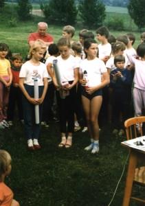 Stupeň víťazov - staršie žiačky (rok 1988)