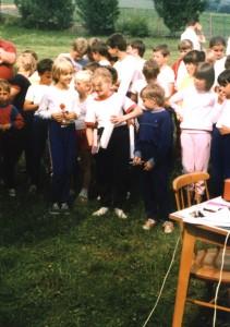 Stupeň víťazov - mladšie žiačky (rok 1988)