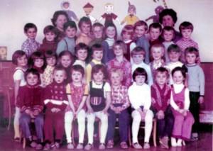 Materská škola v Podkoniciach (fotené v roku 1977)