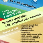 Podkonice ZŠ a MŠ pozvánka na 45. výročie