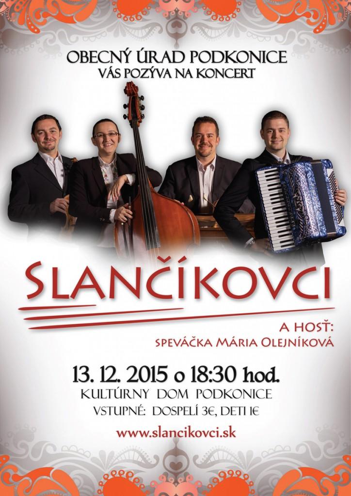 Slančíkovci Podkonice pozvánka na koncert