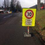 Podkonice uzatvorená cesta - asfaltujeme
